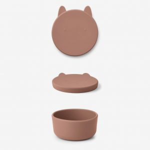 Liewood, Charlot snack box - Rabbit dusty rose large