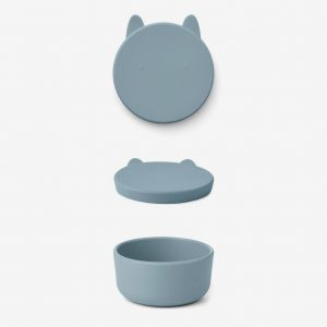 Liewood, Charlot snack box - Rabbit sea blue large