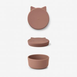 Liewood, Cornelius snack box - cat dark rose medium