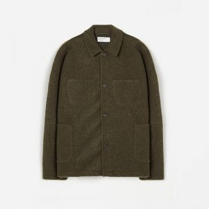 Universal Works Wool Fleece Lumber Jacket Olive