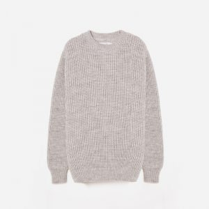 Universal Works Alpaca Wool Crew Neck Jumper, grey