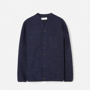 Universal Works Wool Fleece Cardigan Navy