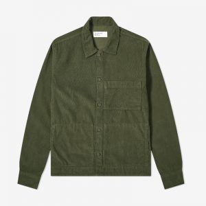 Universal Works Fine Cord Uniform Shirt, Green
