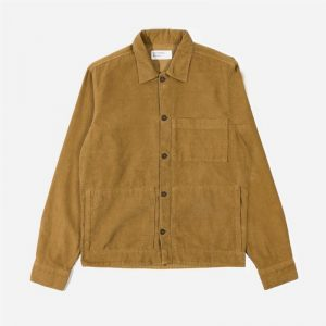 Universal Works Fine Cord Uniform Shirt, Taupe