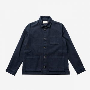 Folk Plinth Jacket, Navy
