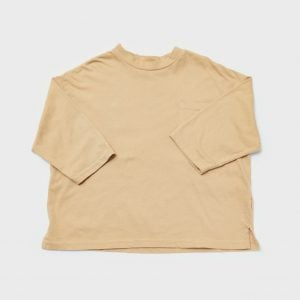 loose fit boxy T-shirt, Pale Mustard
