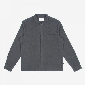 Folk Patch Shirt, Japanese Grey Flannel