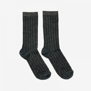 Danish Glitter Ankle Sock, Olive stripe