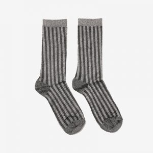 Danish Glitter Ankle Sock, Champagne stripe
