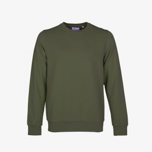 Mens Sweatshirt Seaweed Green