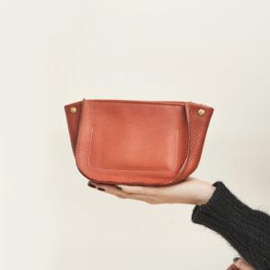 Agatha Brandy Grainy Handbag