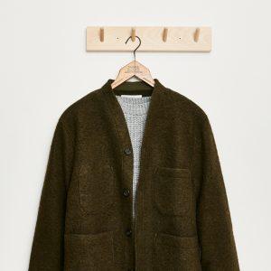 Universal Works Wool Fleece Cardigan olive