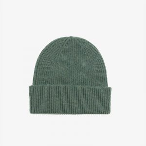 Merino Wool Beanie Emerald Green