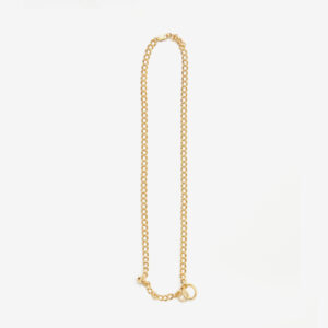 Double Link Gold Charm Chain