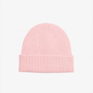 Merino Wool Beanie Washed Pink