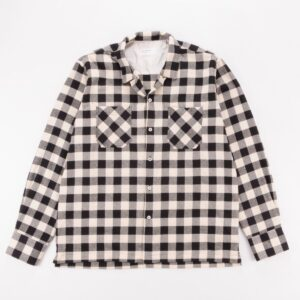 Universal Works Garage Shirt II In Ecru Check