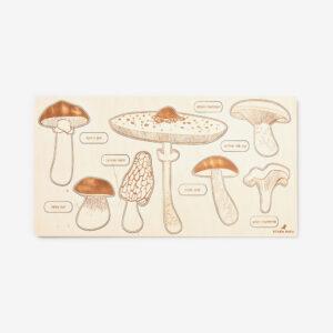 Wild Mushroom wooden puzzle