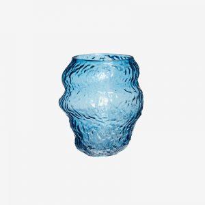 Blue Organic Glass vase